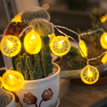5M 40LED Lemon String Light Outdoor Waterproof Fruit Battery Powered Christmas Garland For Christmad Party Wedding Decoration yingtouman iron small christmas tree battery powered lamp led string light christmas holiday party decoration lighting 5m 40led