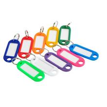 100 pcs Plastic Key Tags Assorted Key Rings ID Tags Name Card Fob Label New Label Hot Sale QE