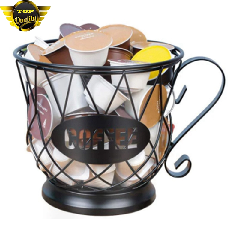 Universal Coffee Capsule Storage Basket Coffee Cup Basket Vintage Coffee Pod Organizer Capsules Holder For Home Cafe Hotel