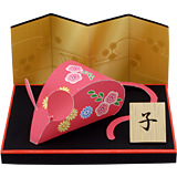 Chinese Style New Year Spring Festival Zodiac Zodiac Rat Zodiac Rat 3D Paper Model DIY Belt Description Non-finished Product