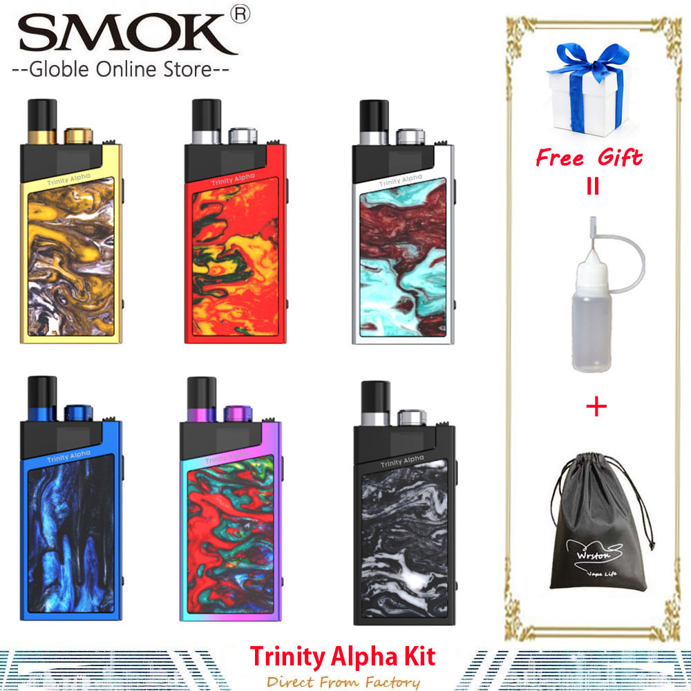 Autêntico SMOK Trindade Alpha Kit 1000mAh Bateria 2.8ml Vape Pod Pod Nord Malha MTL Bobina Vaporizador de Cigarro Eletrônico VS AL85