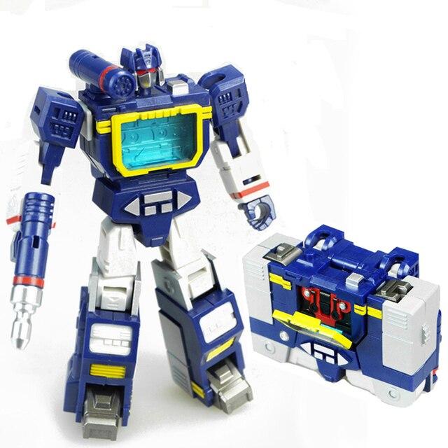 חיילי לוחם HS שינוי Soundwave עם Laserbeak G1 כיס מלחמת פעולה איור רובוט צעצועי HS03