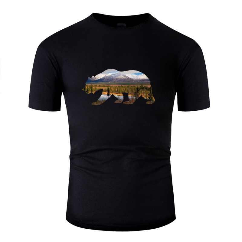 الدب الجديد في الجبال تصميم الحالي تي شيرت للرجال رهيبة الرجال بلايز الكلاسيكية الشارع الشهير تي شيرت