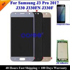 Image 3 - Yapıştırıcı + % 100% test edilmiş Samsung J3 2017 J330 LCD J330F J330 ekran LCD ekran dokunmatik sayısallaştırıcı tertibatı, değil J327