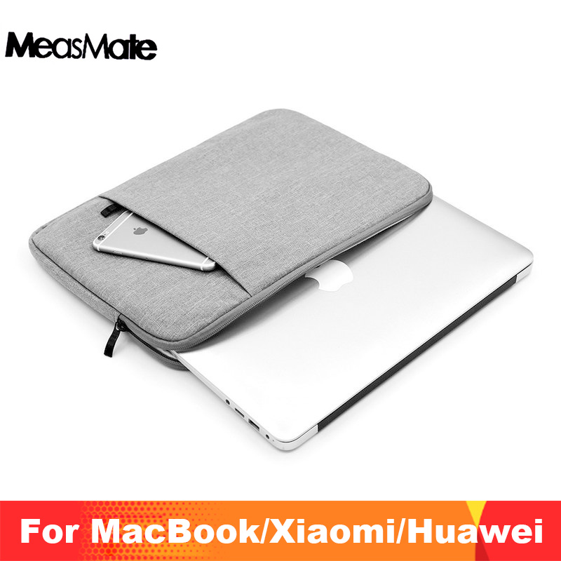 Waterproof Nylon Laptop Sleeve <font><b>Pouch</b></font> Case for Xiaomi Air 12.5 13.3 Pro <font><b>15.6</b></font> <font><b>Notebook</b></font> Bag Unisex Liner Sleeve 12 13 15 inch Bags image