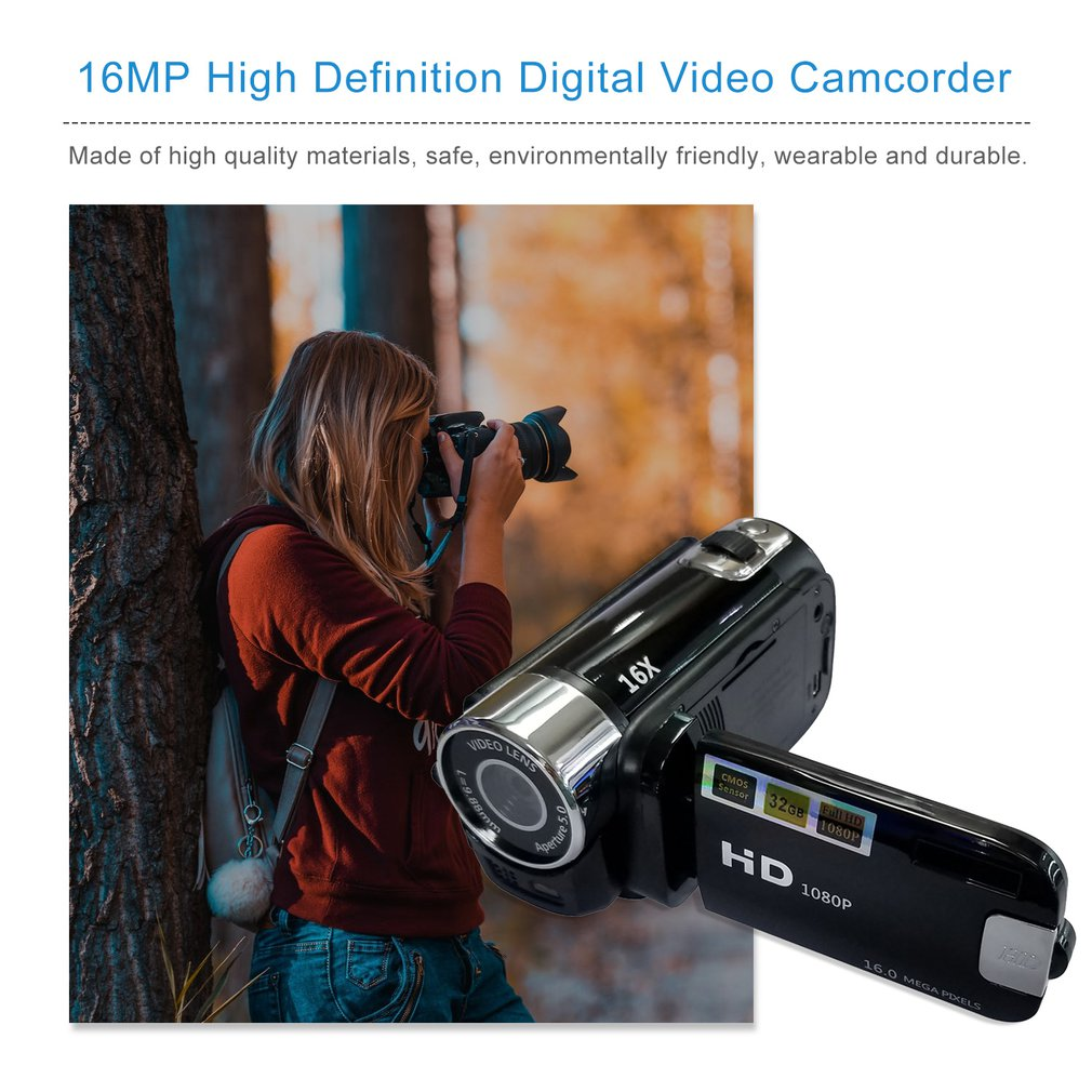 Digital Video Kamera Volle HD 1080P 2,7 LCD Handheld Hd Hd Kamera Rotary Mini Camcorder 18 X Digital Zoom <font><b>16</b></font> <font><b>MP</b></font> CMOS Heißer Verkauf image