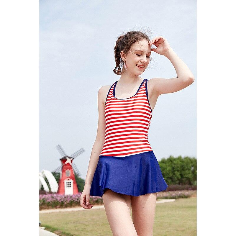 2018 Hot Selling Stripes Camisole Beauty Back KID'S Swimwear Women's Fashion Beach Swimwear