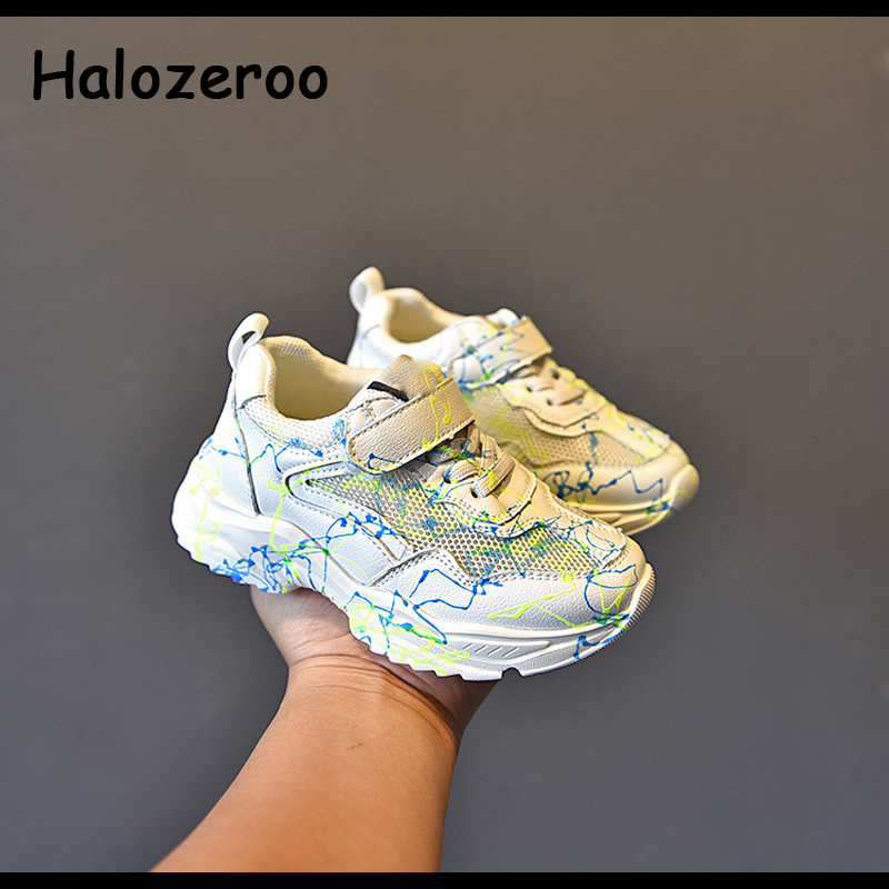 Autumn Kids Sport Sneakers Children Brand Light Shoes Baby Girls White Chunky Sneakers Boys Soft Casual Sneakers Trainers 2020