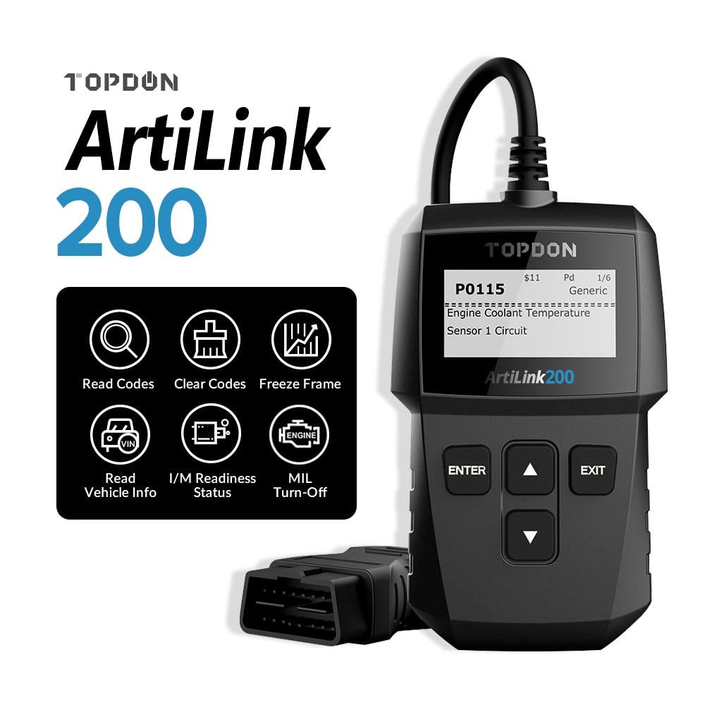 TOPDON Artilink200 Full OBD2 Scaner Auto Diagnostic Scaner for Car Code Reader ODB2 Diagnostic Tool Automotive Car Scanner Tools