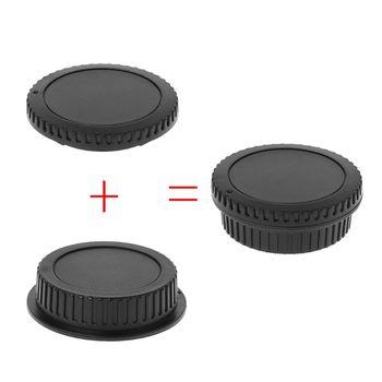Tylny obiektyw osłona korpusu osłona kamery zestaw śruba do mocowania kurzu ochrona plastikowa czarna zamiennik dla Canon EOS EF EFS 5DII 6D tanie i dobre opinie OOTDTY Camera Cap