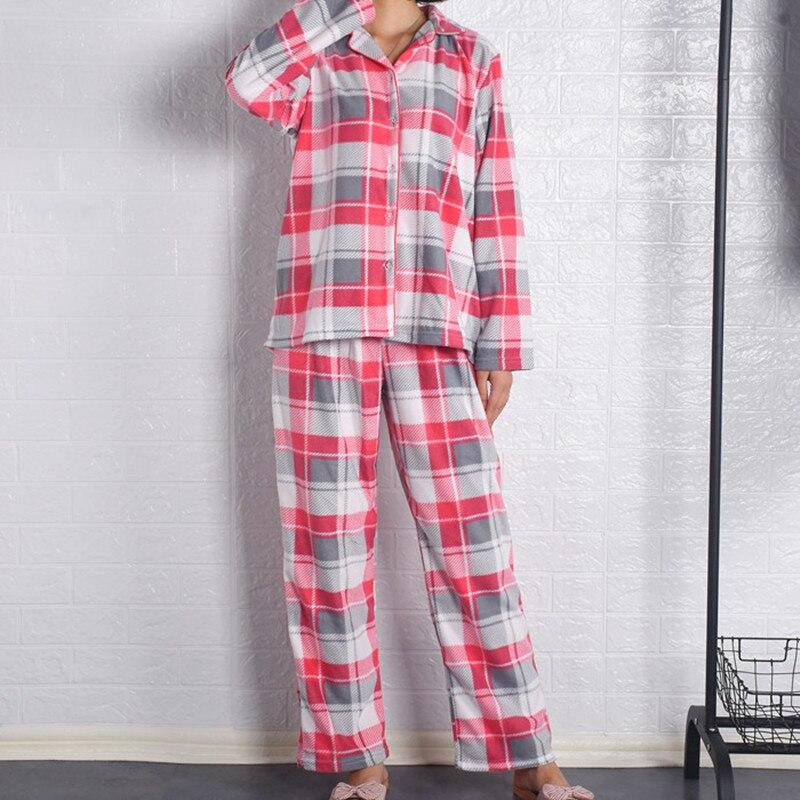 Women's Pajamas Cardigan Polar fleece cardigan with long sleeves Pajamas set