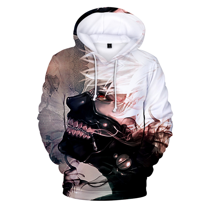 New TOKYO GHOUL Mens Hoodie Fashion 3D Print Casual Sports