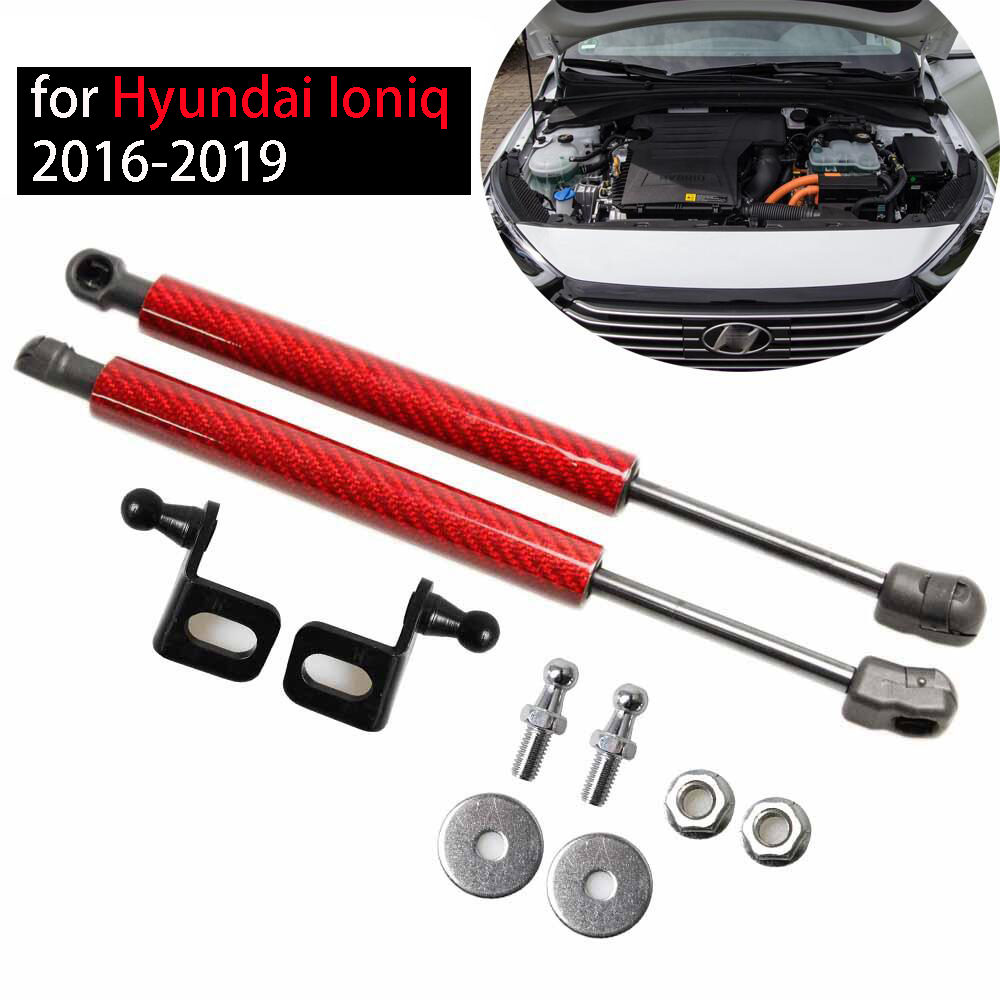 for Hyundai Ioniq 2016-2019 2x Front Hood Bonnet Modify Gas Struts Lift Support Shock Damper