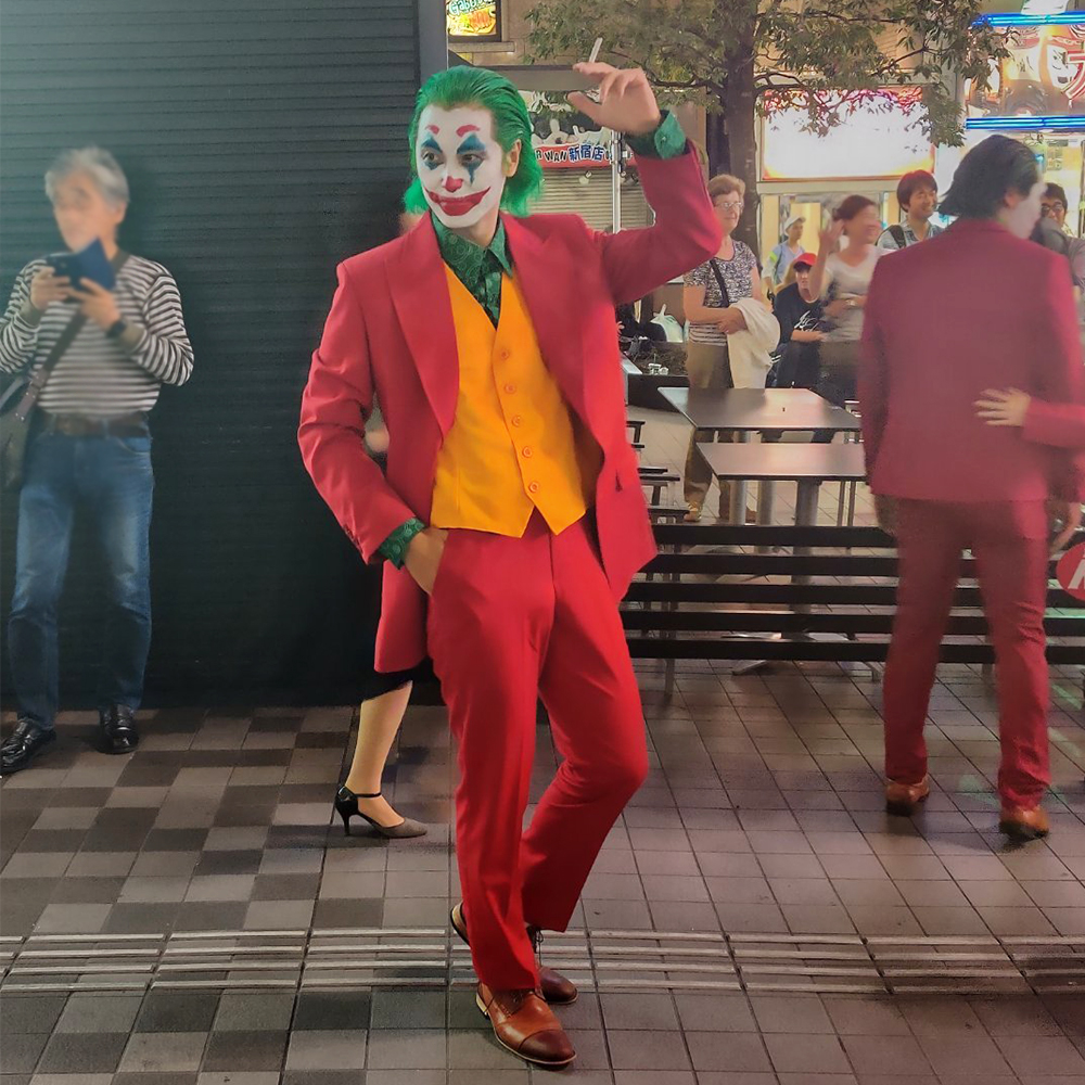 2019 Movie Joker Joaquin Phoenix Arthur Fleck Cosplay Halloween Costume For Men Adult Kids Clown Suits Mask