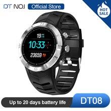 DTN O.I NO.1 DT08 شاشة مستديرة تعمل باللمس الرياضة ساعة ذكية كشف HRV IP67 مقاوم للماء مراقب معدل ضربات القلب سوار الأعمال الموضة