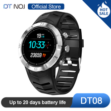 DTNO.I NO.1 DT08 Round Touch Screen Sport Smart Watch HRV Detection IP67 Waterproof Heart Rate Monitor Fashion Business Bracelet
