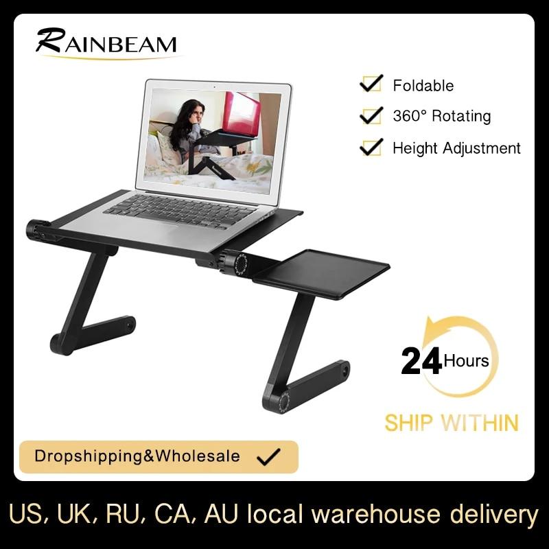 Portable Adjustable Aluminum Laptop Desk Ergonomic TV Bed Tray PC Table Stand