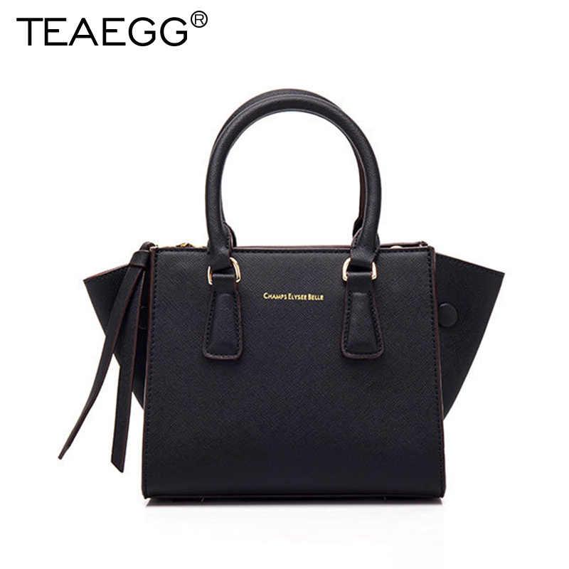 TEAEGG 2019 Для женщин дизайнерская сумка-тоут одноцветное рукав «летучая мышь» Сумки из натуральной кожи сумка женская Брендовая женская сумка через плечо сумка-мессенджер