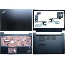 Novo portátil lcd capa traseira/moldura dianteira/dobradiças/encosto de mãos/caso inferior para lenovo thinkpad e580 e585 01lw413 01lw421 01lw410
