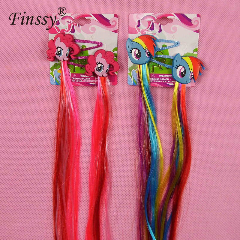 Little Ponys Hair Clips Hair Pins My Kids Girls Hair Accessories   Headwear   Princess Braid Hair Clips Cute and beautiful
