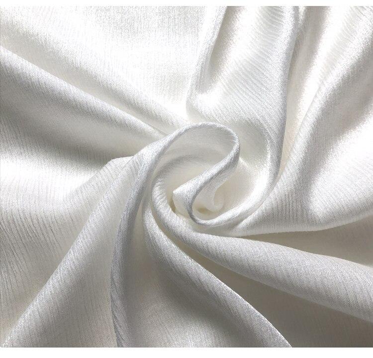 Pure White Luxury Water Moire Moire Hemp Low High Hemp Fabrics of High-end Custom Dress Hanfu Cloth