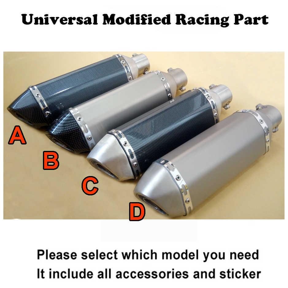 Universele Gemodificeerde Motor Laser Logo RACING Uitlaatpijp Moto escape Uitlaat voor Motorfiets ATV Scooters Dirt bike
