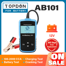 TOPDON AB101 Auto Batterie Tester 12V 2000CCA Batterien Test Automotive Analyzer Auto Batteri Prüfung Ankurbeln Lade Heißer Verkauf