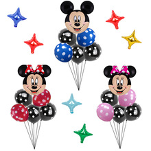 Toys Balloons Head-Foil Mouse Party-Supplies Happy-Birthday-Party-Decorations Blue Minnie Mickey