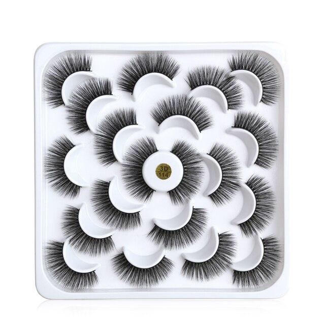 5/6/9/10 Pairs 3D Mink Lashes Natural Long False Eyelashes Dramatic Volume Wispy Fake Eyelashes Extension Makeup Wholesale 2
