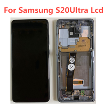 Pantalla táctil Original Super AMOLED de 6,9 pulgadas para Samsung Galaxy S20 Ultra, G988, G988F, G988B/DS, pantalla lcd con marco