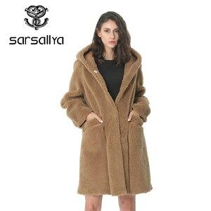 Image 4 - Kadın yün ceket kış kadın uzun ceket Hood sonbahar yün Blend Peacoat kız sıcak kaşmir palto bayanlar pembe güz 2020 zarif