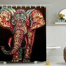 3d цифровая печать слон занавеска для душа Высокое Качество