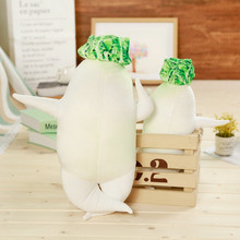 1pc 45/60/80cm Simulation White Radish Plush Toy Stuffed Kawaii Plant Cushion Sex Pillow Creative Sofa&Bed Decor