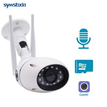 HD WIFI Wireless IP Camera 1080P CCTV WI-FI Camera Outdoor Onvif Alarm 2-Way Audio TF Card Slot  IR 20m CamHi Optinal 5MP