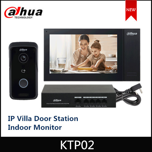 2020 New Dahua IP Villa Door Station Indoor Monitor Card App Remote Indoor Monitor Unlock Control Two Locks IPC Surveillance