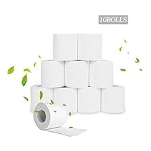 10 Pack 4 Ply Paper Towels Tissue Soft White Toilet Paper Toilet Roll Tissue Roll for Home Kitchen Accessories Rolling Paper