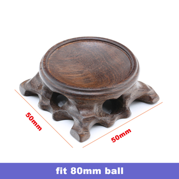 Wood Display Stand for Crystal Glass Lens Ball Large Divination Photography Lensball Base 40 60 80 100mm Big Magic Sphere Holder 8