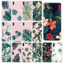 Fresh leaf banana leaf DIY Luxury High-end Phone Case for iPhone 11 pro XS MAX 8 7 6 6S Plus X 5 5S se 2020 XR cover leaf print iphone case