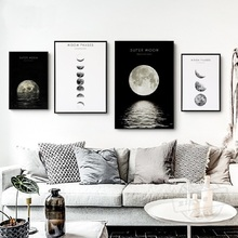 Canvas Paintings Pictures Black Prints Posters Wall-Art Living-Room Home-Decoration Minimalist