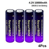 4 pezzi 18650 batteria 4.2V 10000mAh batteria ad alta capacità batteria ricaricabile agli ioni di litio sostituzione per giocattoli per auto torcia a LED