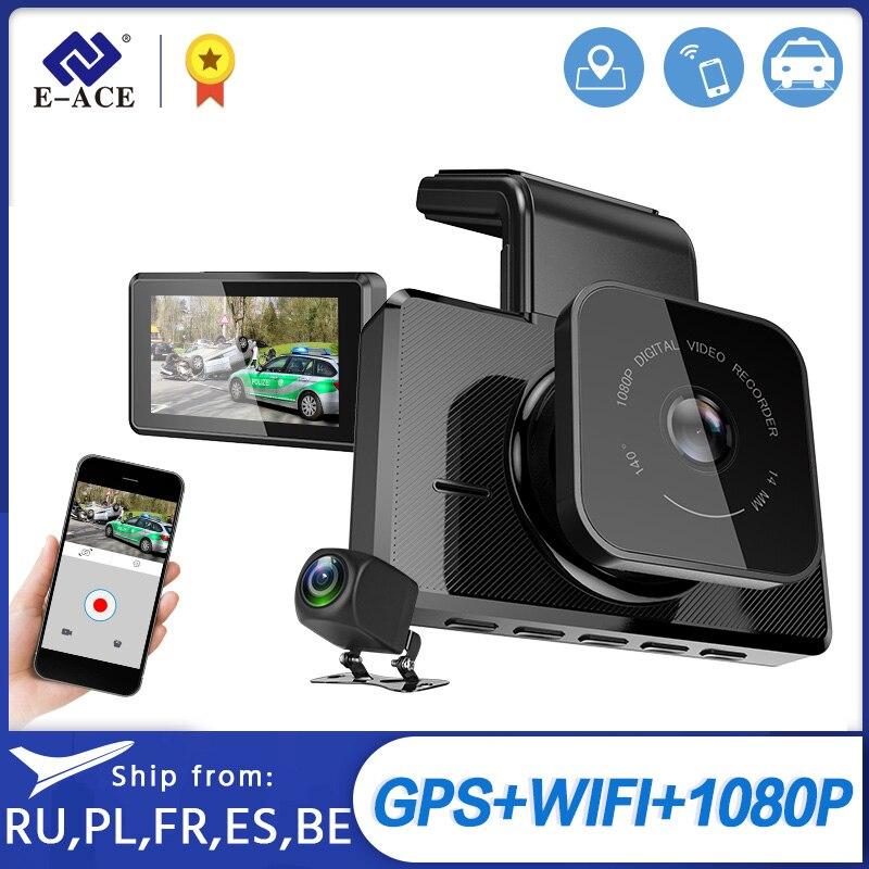 E ACE 3.0 Inch Car DVR Wifi Dashcam GPS FHD 1080P Dash Camera Video Recorder With Rear View Camera Night Vision Auto Camera|DVR/Dash Camera|   - AliExpress