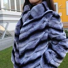 Россия мода женщин натуральный рекс мех кролика пальто натуральный мех рекс кролика шиншиллы цвет зимняя куртка