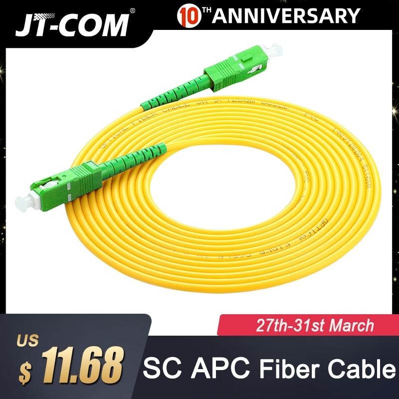 10pcs SC/APC Fiber Optic Patch Cord Cable SM SC-SC 2.0mm 3M Cable Single Mode Simplex Optical Fibra Optica FTTH 9/125um PVC