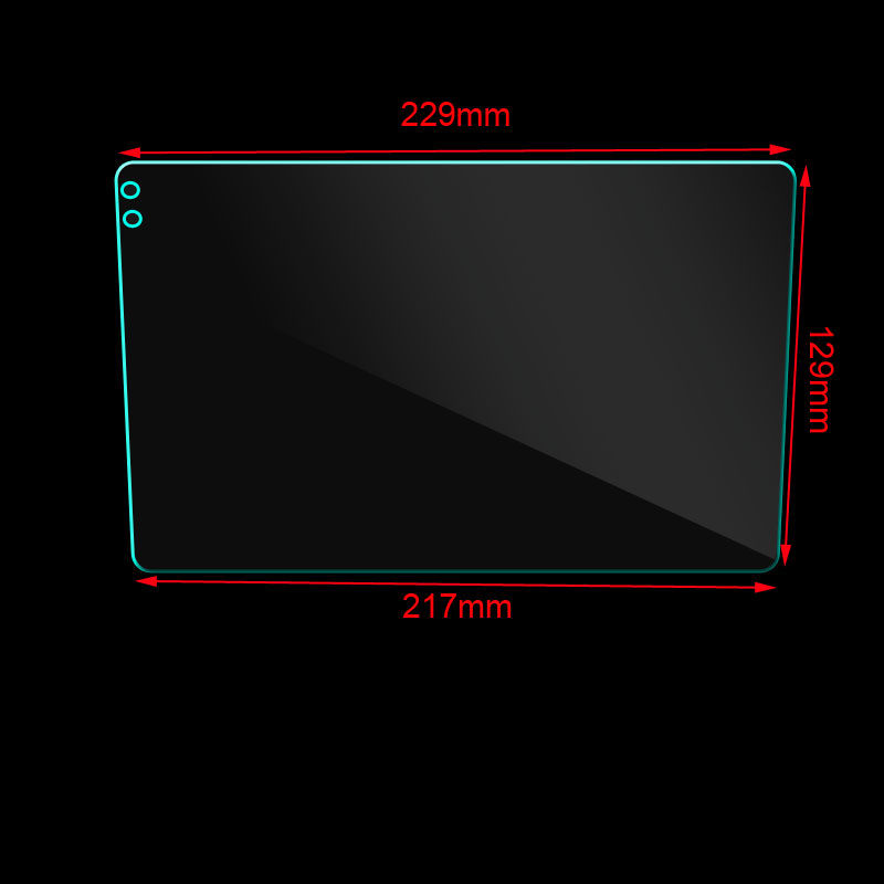Закаленное стекло 9 дюймов для автомобиля Seicane, защитная пленка из закаленного стекла для gps-навигации 229*129*217 мм