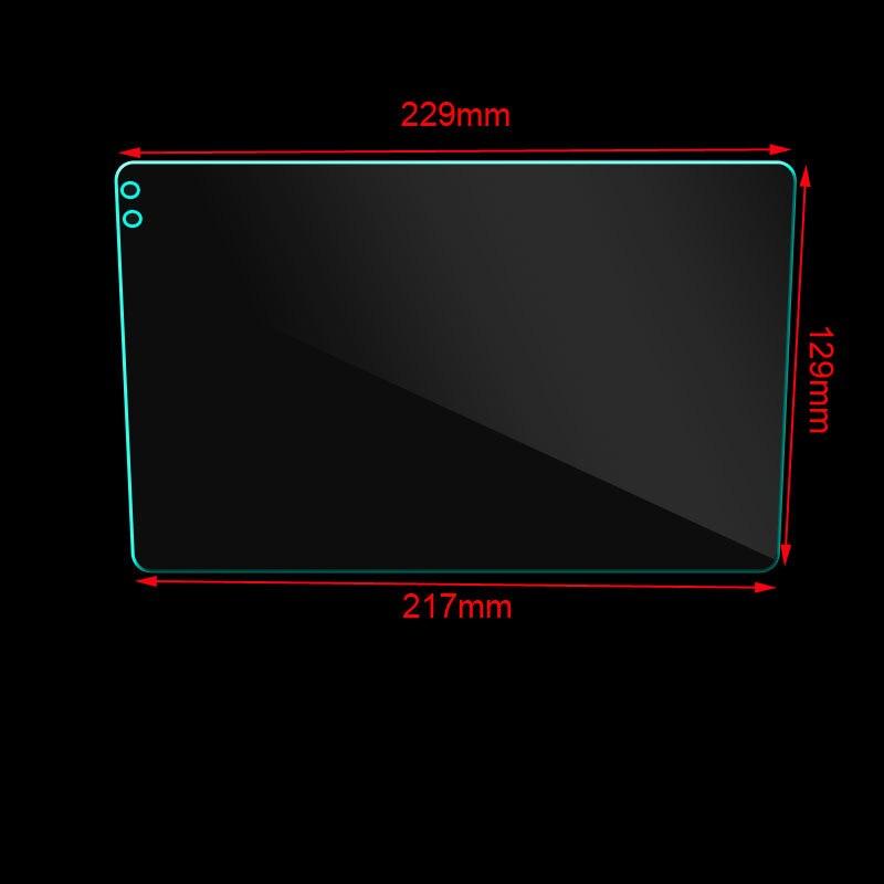 229*129*217mm 9 인치 강화 유리 Seicane 자동차 GPS 네비게이션 강화 유리 보호 필름