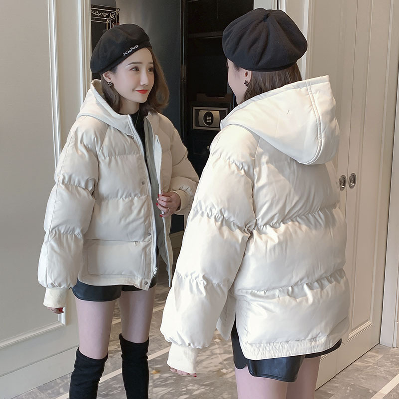 004 # Winter Brushed And Thick Cotton Coat Cotton-padded Clothes Women's Middle Long Coat Down Jacket Down Coat
