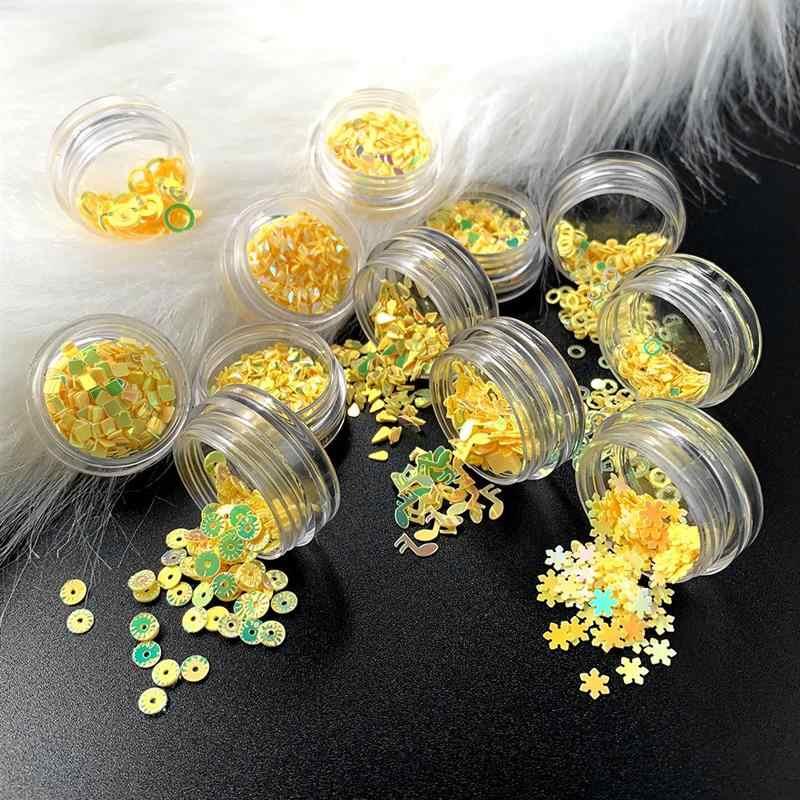 12 Box/Set Sparkle Jantung Pesta Pernikahan Confetti Kuku Payet Paillettes Manikur Kuku Seni Dekorasi Serpihan Seni Glitter Dekorasi