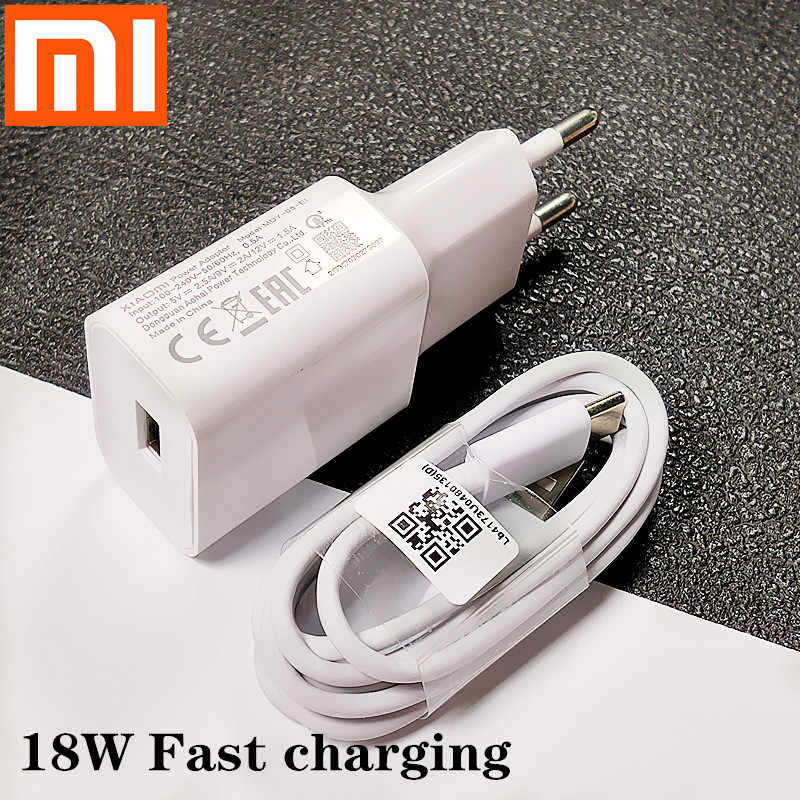 Original Xiaomi Charger 18w Qc3 0 Fast Charge Usb Type C Cable For Mi 6 4c Redmi Note 7 8 9 8se 6 9 6x 5x Mobile Phone Chargers Aliexpress