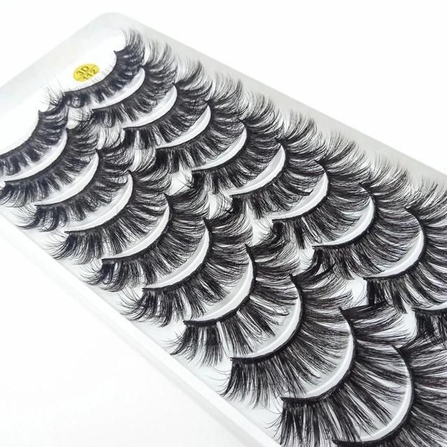 NEW5/10Pairs 3D Faux Mink Eyelashes Natural Thick Long False Eyelashes Dramatic False Lashes Makeup Extension Eyelash maquiagem 4