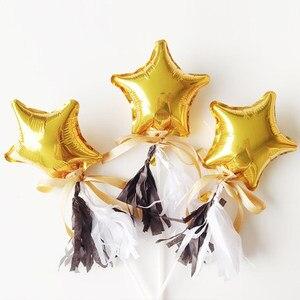 Image 3 - 20 шт/30 шт/50 шт 5 дюймов маленький милый воздушный шар из фольги в форме сердца со звездой свадебное украшение день Рождения Вечеринка детский душ воздушный шар украшение игрушка